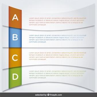 Infografik fortschritte vorlage in gebogener form