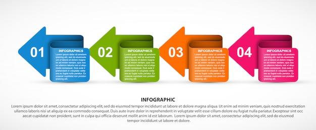 Infografik für business-präsentationen