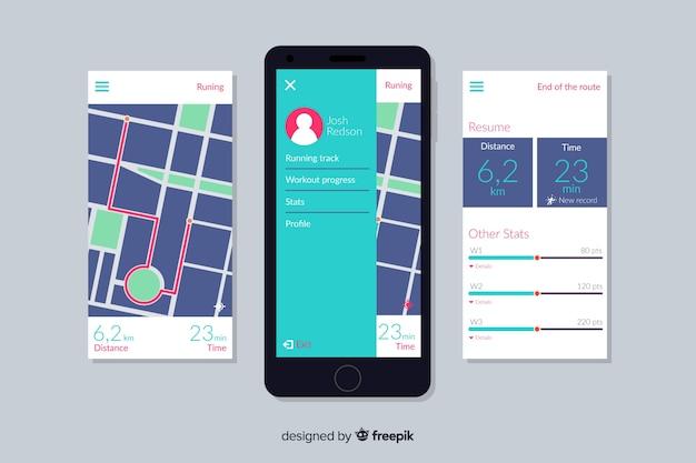 Infografik für mobile lauf app