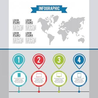Infografik ganze welt
