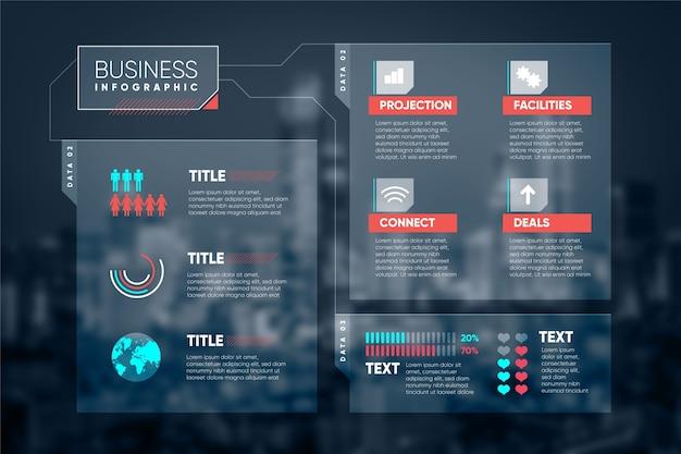 Infografik geschäft mit foto