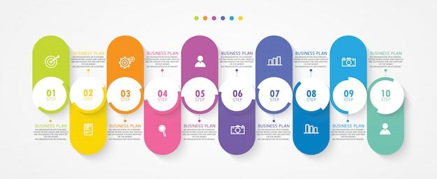 Infografik geschäftsdiagramme werden in studien, in studien oder in geschäftsplänen verwendet.