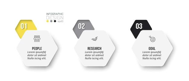 Infografik-geschäftsvorlage mit schritt- oder optionsdesign option