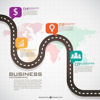 Infografik globalen business-plan