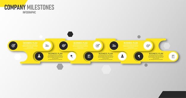 Infografik illustration verwendet für geschäftspräsentationsprozess und buchhaltungsdaten grafik banner layout mit bildung 6 schritt