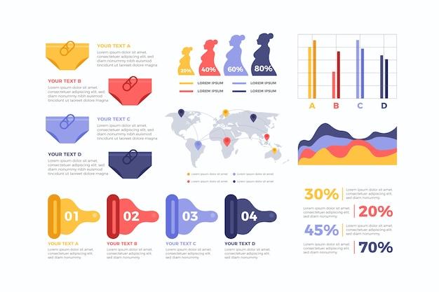 Infografik-konzept der geburtenrate