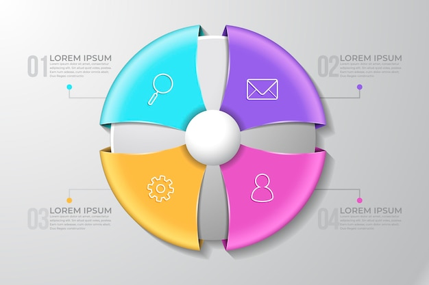 Infografik-konzept des 3d-rings