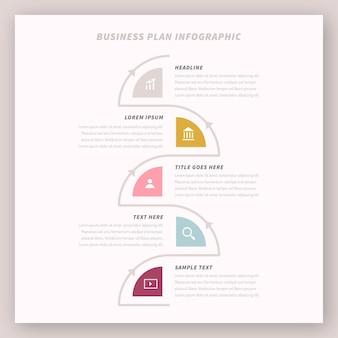 Infografik-konzept des geschäftsplans