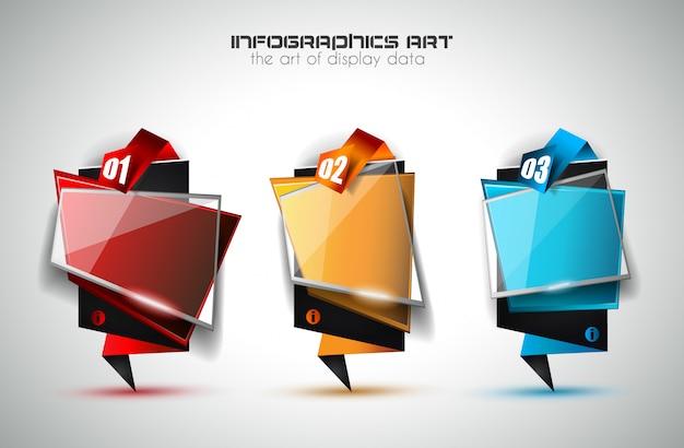 Infografik-layout für die klassifizierung von infocharts