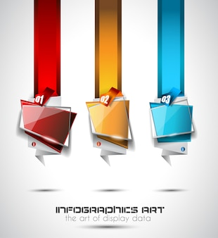 Infografik layout für infocharts, artikelklassifizierung