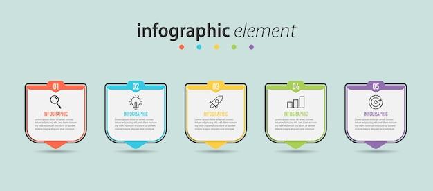 Infografik-marketing mit erfolgsschritten