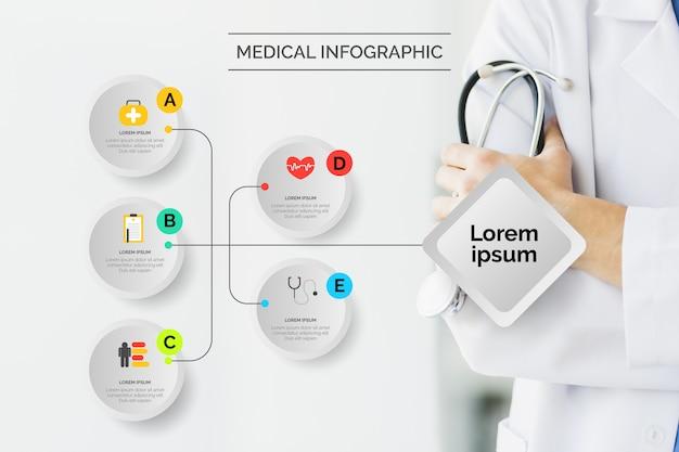Infografik medizinisch mit foto