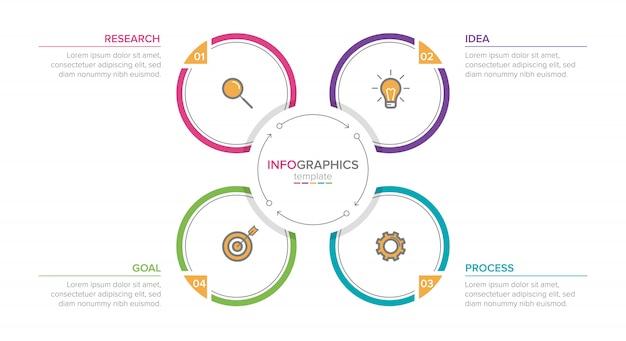 Infografik mit aufeinanderfolgenden schritten