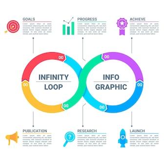 Infografik mit endlosschleife