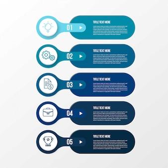 Infografik mit evolutionsschritten