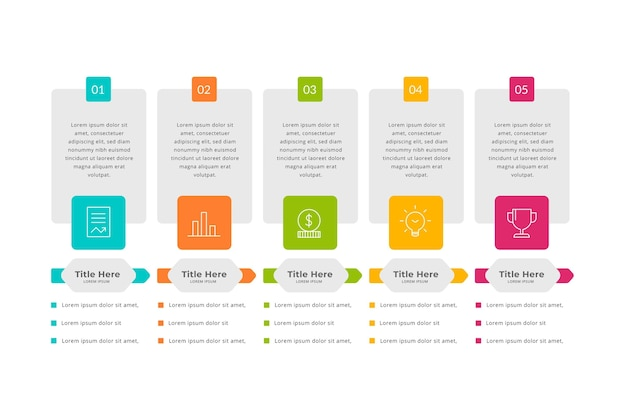 Infografik mit flachem designpreis