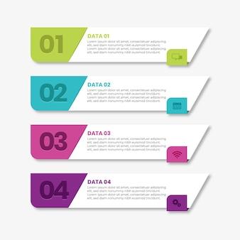Infografik mit flachem inhaltsverzeichnis