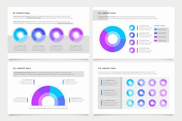 Infografik mit flachen harvey-balldiagrammen