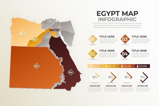Infografik mit gradienten-ägypten-karte