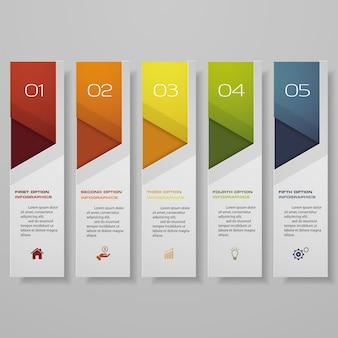 Infografik mit horizontalen bannern