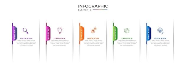 Infografik mit optionen oder schritten