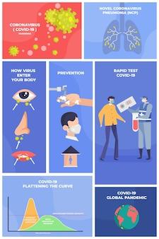 Infografik mit symbolen und text zum schutz