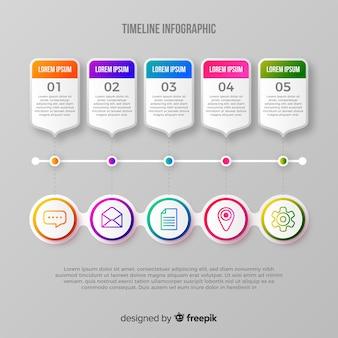 Infografik mit verlaufsverlauf