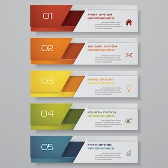 Infografik mit vertikalen banner