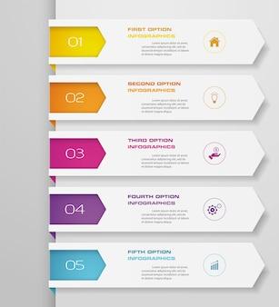 Infografik mit vertikalen bannern