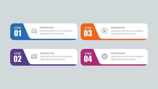 Infografik mit vier listen