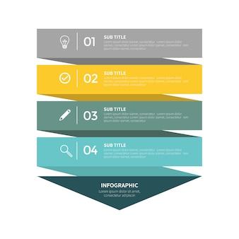 Infografik mit vier schritten
