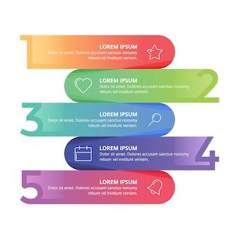 Infografik nummer business-präsentation in farbe