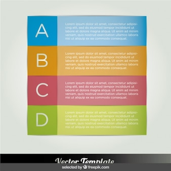 Infografik-option in form von lesezeichen