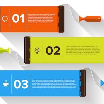 Infografik pinselfarbe