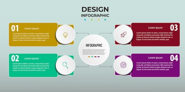 Infografik-schritt entwerfen