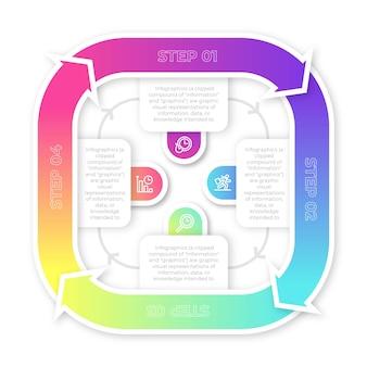 Infografik schritt sammlung design