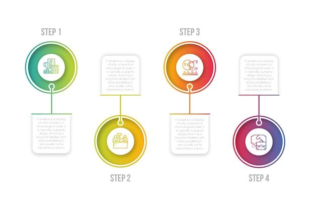 Infografik schritt sammlung