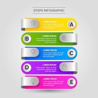 Infografik schritte geschäft