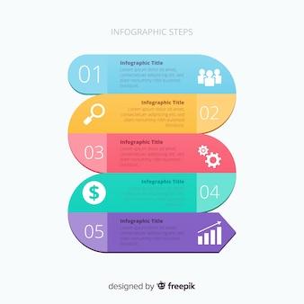Infografik-schritte