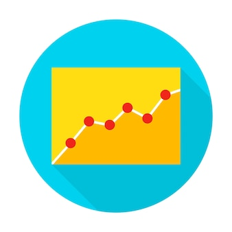 Infografik-symbol. vector illustration flat style circle item mit langem schatten. datenanalyse.