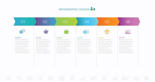 Infografik-symbole für die visualisierung von geschäftsdaten für die abstrakte hintergrundvorlage