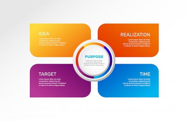 Infografik teile oder prozesse