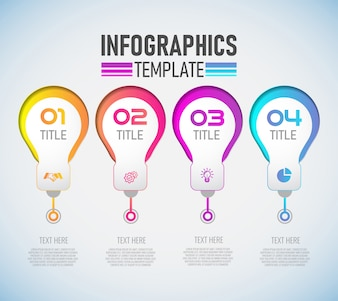 Infografik-Template-Design mit 4 Optionen.