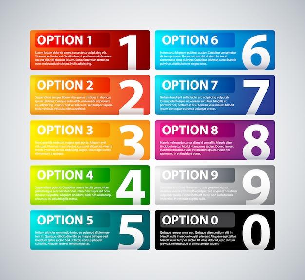 Infografik template-design