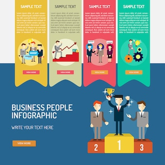 Infografik template-design
