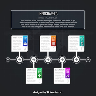 Infografik timeline template