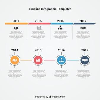 Infografik timeline-vorlage