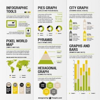 Infografik-tools und templates pack