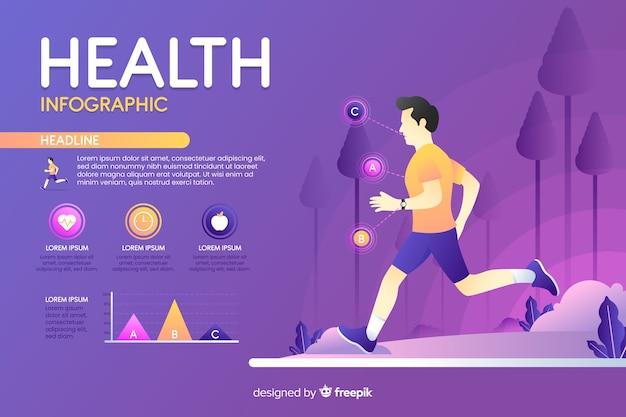 Infografik über gesundheit flaches design