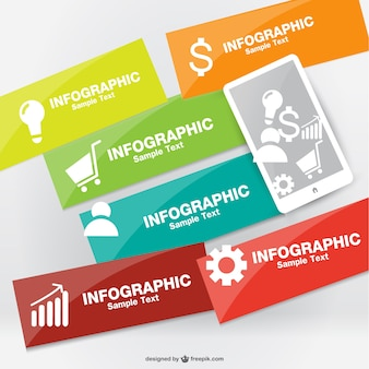 Infografik vektor smartphone-design